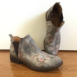 Sofft Bergamo Bootie Leather Boots Grey Floret